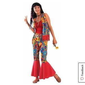 Hippie Womens Flower Power Halloween Costume